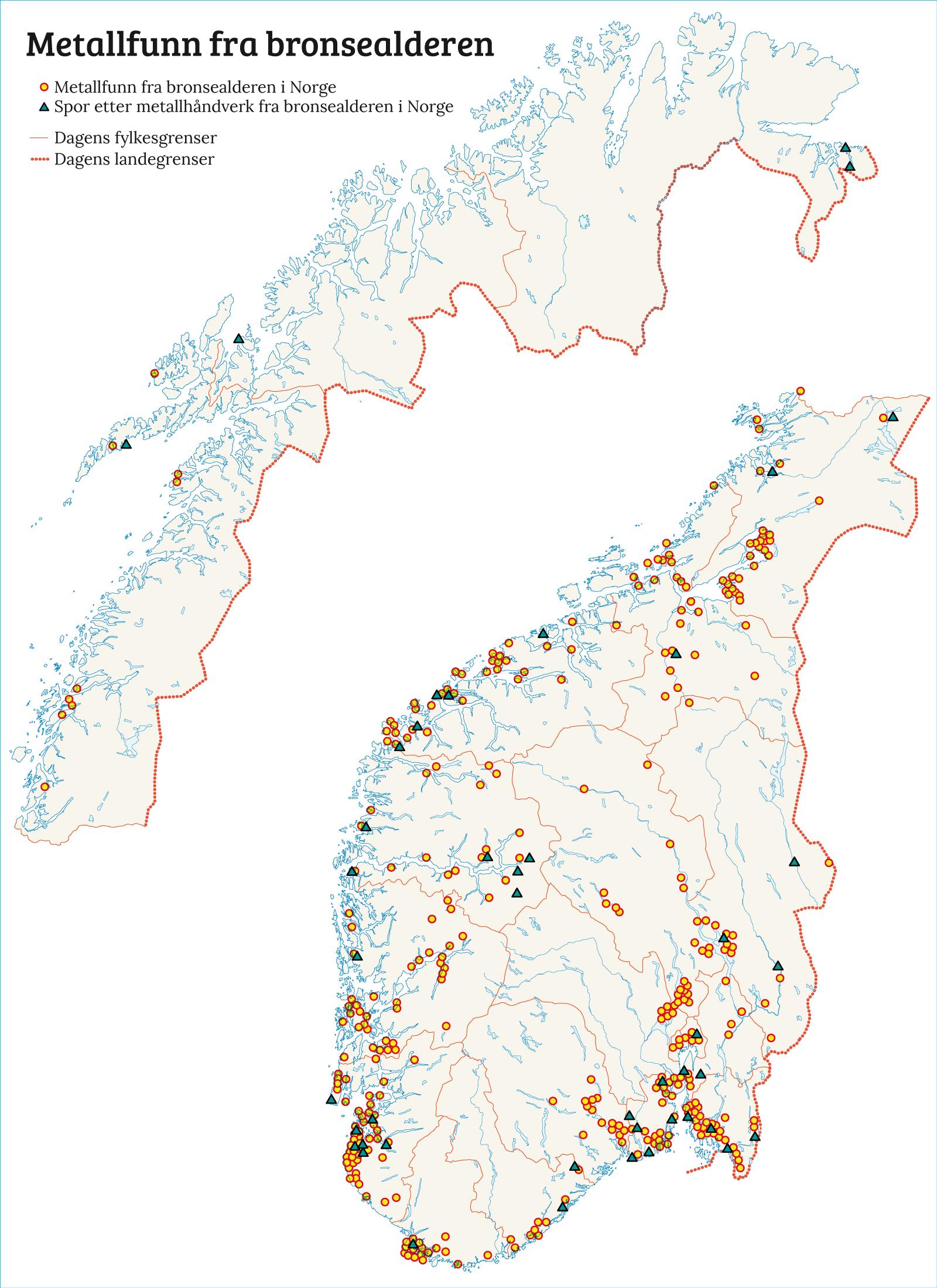 gull kart norge Det første metallet   Norgeshistorie gull kart norge