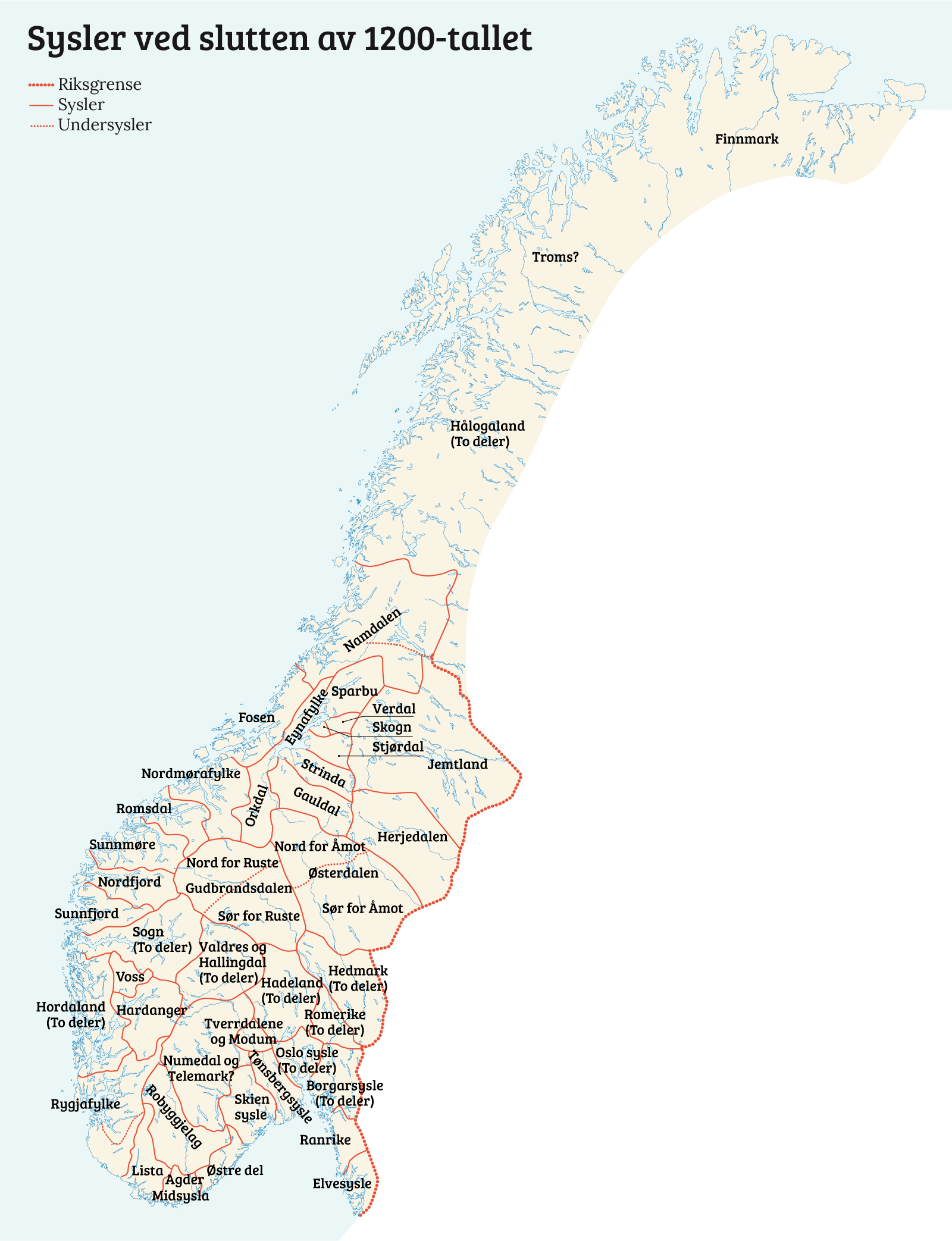 kart over herjedalen Ble Norge en stat i høymiddelalderen?   Norgeshistorie kart over herjedalen