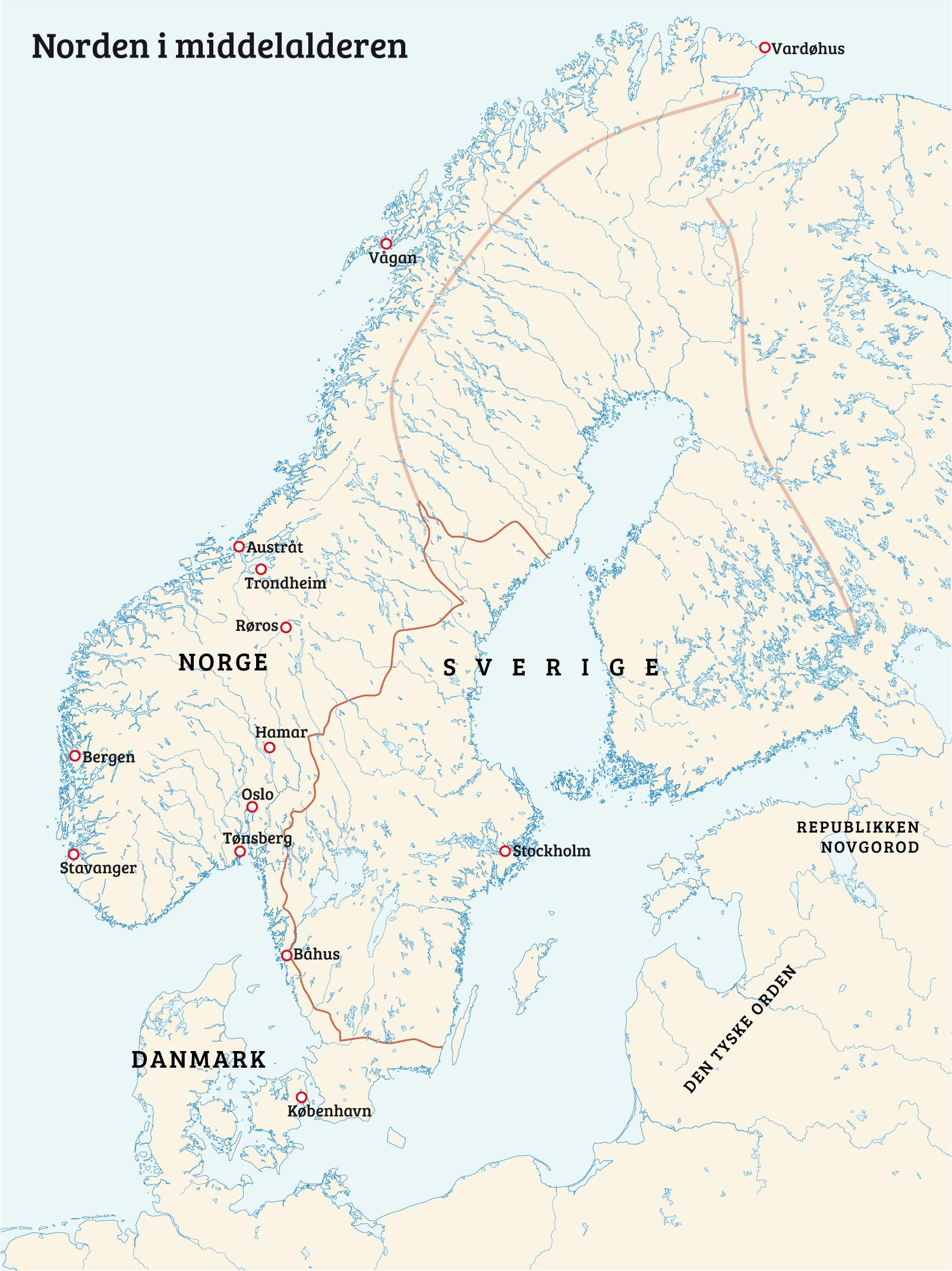 kart over sverige og danmark Kalmarunionen   Norgeshistorie kart over sverige og danmark