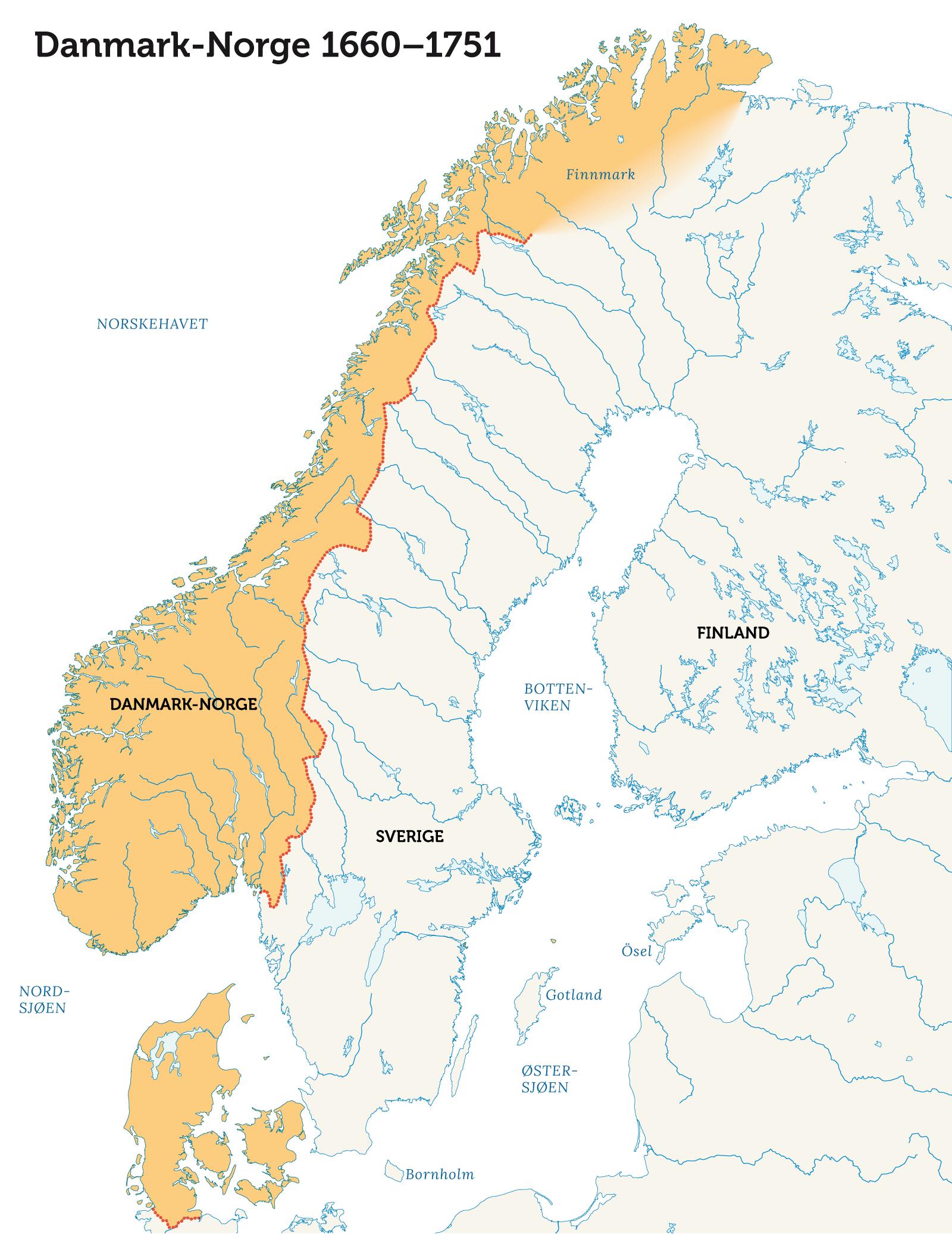 kart over sverige og danmark Norge i den store nordiske krig   Norgeshistorie kart over sverige og danmark