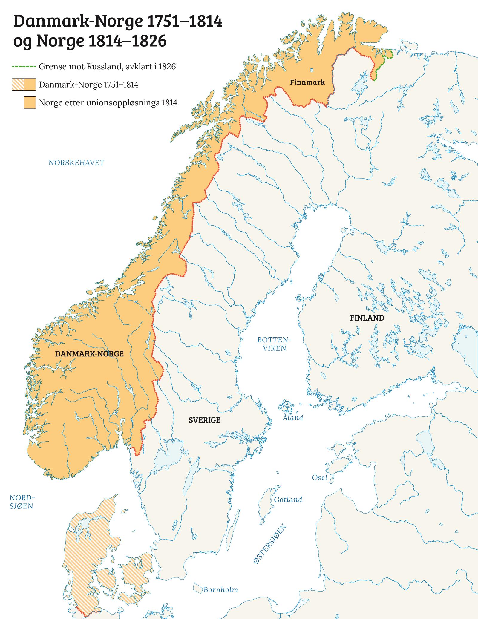 kart danmark norge Den uakseptable Kieltraktaten   Norgeshistorie kart danmark norge